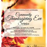 Thanksgiving Eve Service 11/27/2019